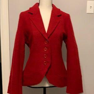 100% Wool Cardigan/Jacket Valerie Bertinelli